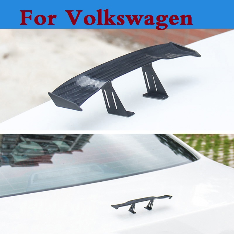Auto Hatchback GT Rear Spoiler Wing Auto stickers for Volkswagen Polo GTI Polo R WRC Scirocco Scirocco R Tiguan Touareg up XL1 yandex w205 amg style carbon fiber rear spoiler for benz w205 c200 c250 c300 c350 4door 2015 2016 2017