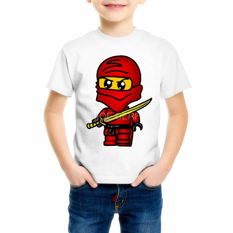 Summer Baby Boys Kid Girls T-shirt Childrens Clothing Ninja Ninjago Cartoon Tops Tees Tshirts School Boy Costume Z13-8