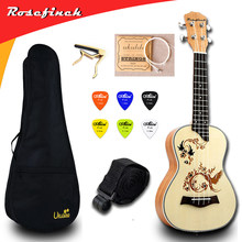 23 inch Ukulele Concert Electric Mini Guitar Ukelele with Bag Capo 4 String Strap Picks Hawaii Guitar UKU Gift Mahogany UK2319A(China)
