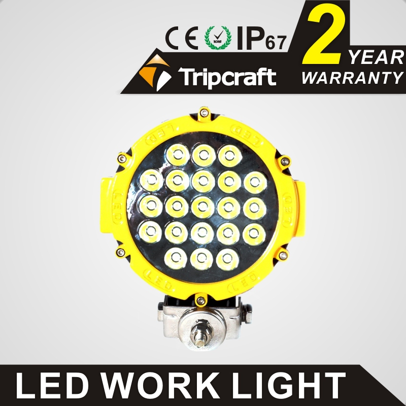 TRIPCRAFT 2PCS/lot 63w led work light spot flood 7inch car driving lamp for Offroad Boat Car Tractor Truck SUV ATV 4WD 10-30V DC tripcraft 12000lm car light 120w led work light bar for tractor boat offroad 4wd 4x4 truck suv atv spot flood combo beam 12v 24v