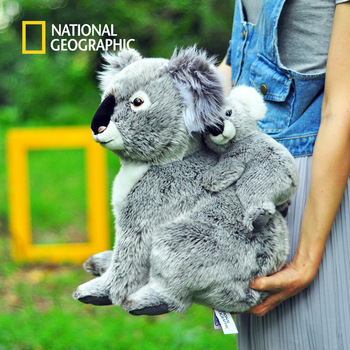 National Geographic Kawaii Koala Plush Toys For Children Australian Koala Bear Plush Stuffed Soft Doll Kids Lovely Gift For Girl 1pc 30cm sitting mother and baby koala plush toys stuffed koala dolls soft pillows kids toys good quality