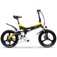 7 Speed 20 ''Opvouwbare Mountainbike Ebike Sterke Power 10. 4ah/12. 8ah/14.5Ah Lithium Batterij Geïntegreerde Wiel 5 Niveau Trapondersteuning