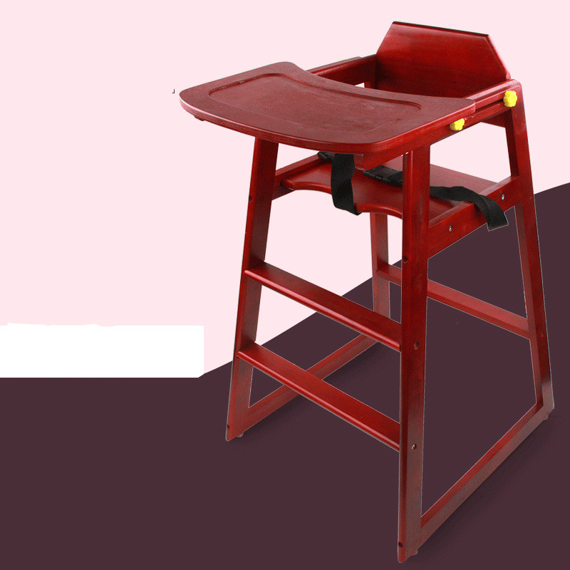 High Quality Soild Wood Child Chair Feeding Food Table Dismantling Adjustable With Seat Mat Infant Stool For More 6 Months Baby