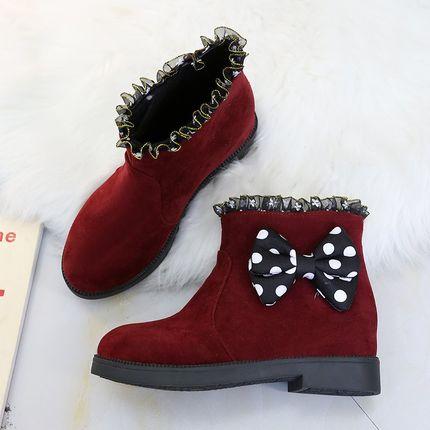 LapoLaka Fashion European Buckle Tie Snow Boots For Women