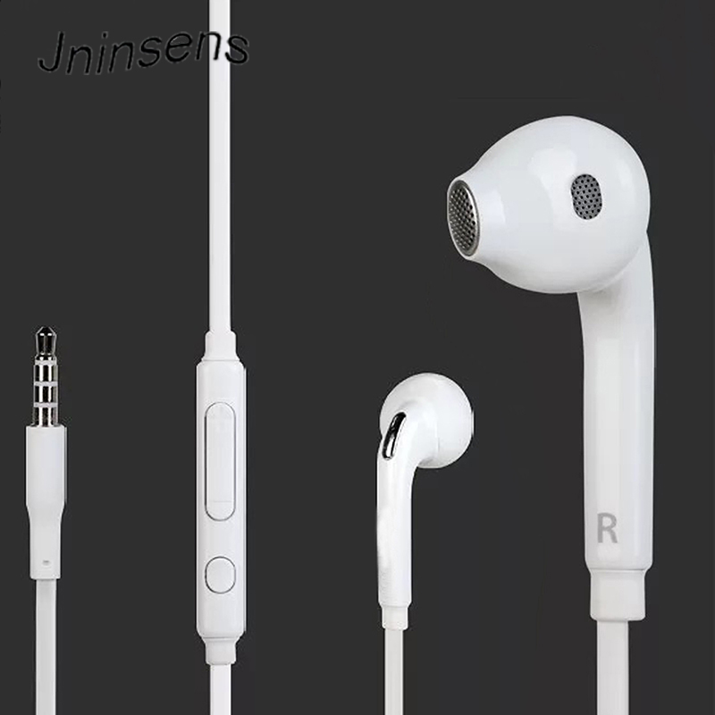 New Arrival Headphone Headset In-ear Earphone with Mic microphone 3.5mm standard jack For Samsung GALAXY S6 i9800 S6 Edge 3 5mm jack headset earphone mic
