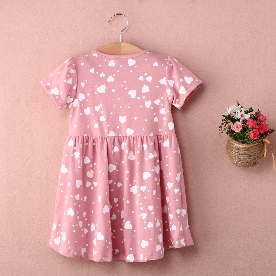 2018 Bnwt Toddler Kids Girls Summer Dress Princess Short Sleeve Floral Casual Beach Mini Dresses by Pudcoco