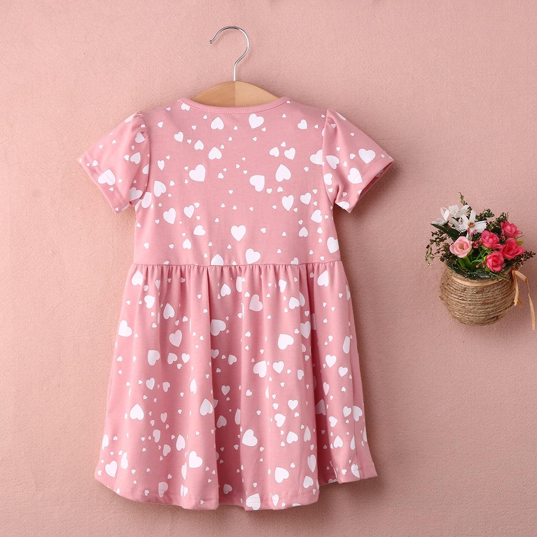 2018 Bnwt Toddler Kids Girls Summer Dress Princess Short Sleeve Floral Casual Beach Mini Dresses by Pudcoco