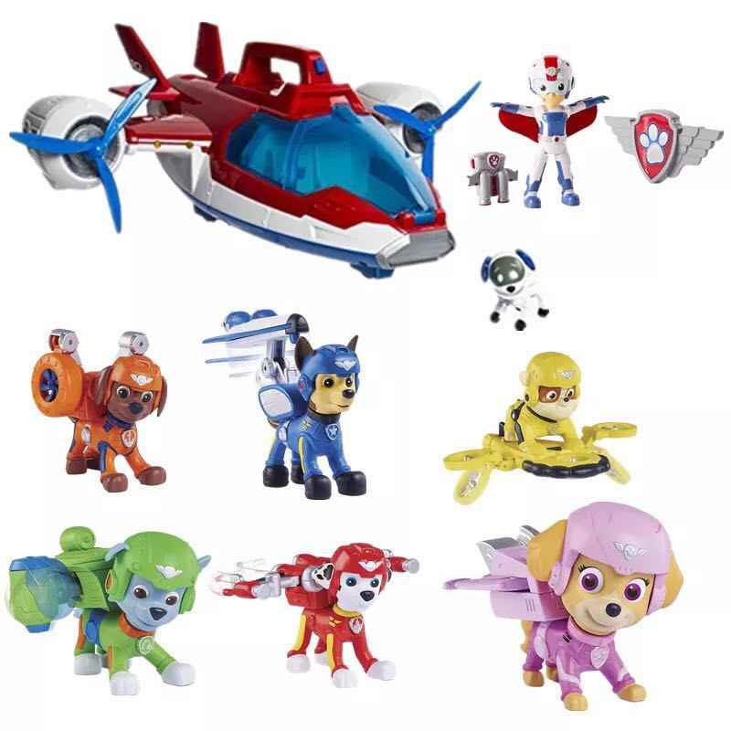 8613dee9d New Nickelodeon Genuine Paw Patrol Air Rescue Chase marshall rocky rubble  skye zuma Pup Pack &