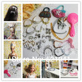 Free Shipping, 40pcs doll accessories (Bags,Glasses,Belts,Crowns,Necklace,Combs,Shoes,hairpin,Earrings,Bracelet) for barbie doll