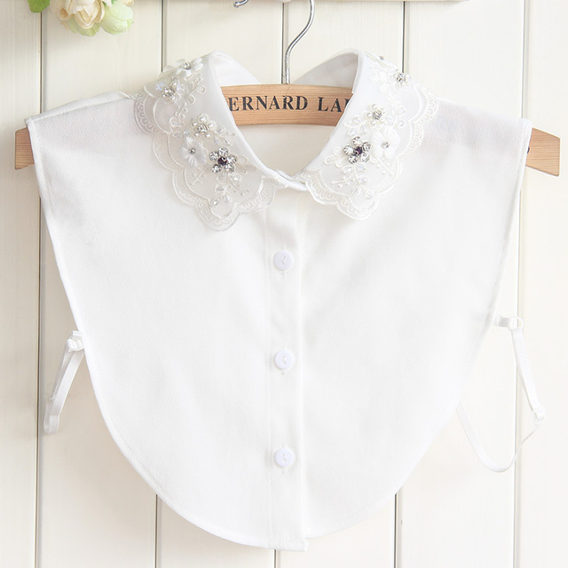 detachable shirt fake collar women embroidery decorative denim collars for  sweaters white embroidered shirts ladies lapel