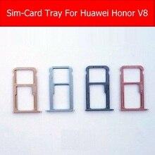 Genuine Memory & SIM Card Tray For Huawei Honor V8 AL-20 SD & Sim Card Holder adapter slot