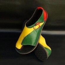 43 Women Sandals Vintage Summer Women Shoes Genuine Leather