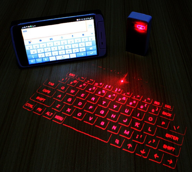 2 In 1 Mini Wireless Virtual Projector Laser Keyboard With