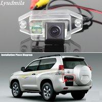 Lyudmila FOR Toyota Land Cruiser Prado 2700 / 4000 / Car Back up Rear View Camera HD CCD RCA NTST or PAL License Plate Lamp OEM