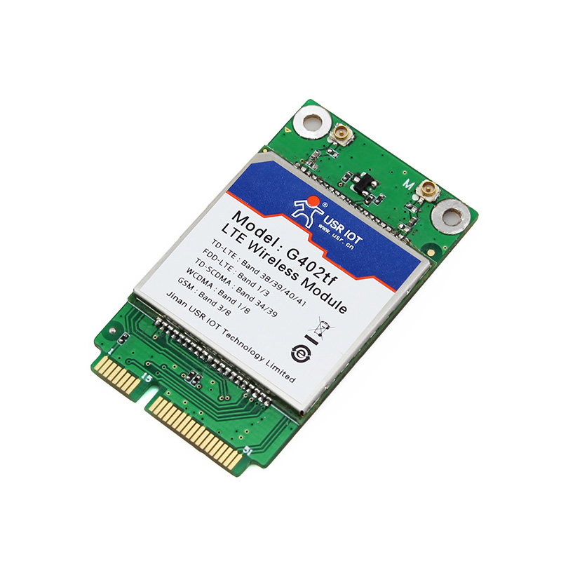 ФОТО Q18046 USRIOT USR-G402tf-mPCIe 4G Module mPCIe Hardware Interface TD-LTE and FDD-LTE Network with SMS and Phone Book Function