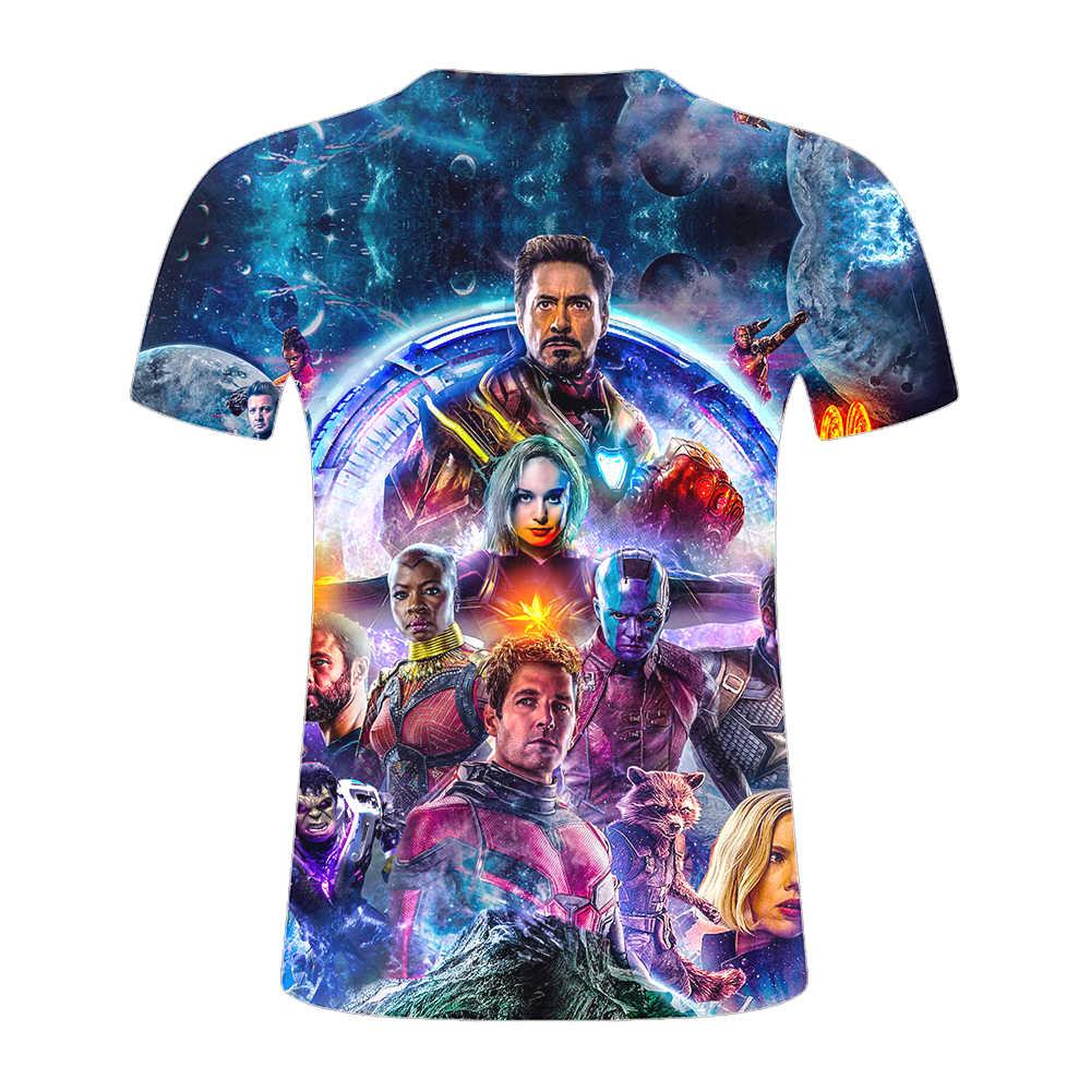 Футболка нового дизайна апреля фильм Marvel Мстители эндигра 3d Принт футболки короткий рукав Харадзюку стиль футболка уличная топы