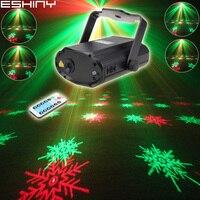 ESHINY Remote MINI R & G Laser 6 Schneeflocke Muster Projektor DJ Dance Disco Bar Home Party Weihnachten Bühne Wirkung licht Zeigen T164D2|Bühnen-Lichteffekt|   -