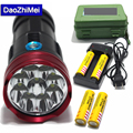 high power flashlight 15000 lumens King 9T6 LED flashlamp 9 *XM-L T6 LED Flashlight Torch with 5000mah battery Charger + Box