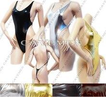 Golden silvery Leatherwear* 2505 *Ladies Thongs G-string Underwear Panties Briefs T-back Swimsuit Bikini Free Shipping