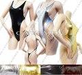Ouro prateado leatherwear * 2505 * ladies thongs g-string underwear calcinhas briefs t-voltar swimsuit bikini frete grátis