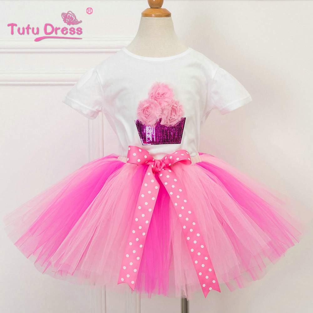 Children Clothing Sets Kids Girl Outfits Sequin Short Sleeve Cotton Tops Skirt Suits Clothes red minnie children suits long sleeve newborn baby girl summer clothes bodysuit tutu skirt sets infant clothing toddler outfits