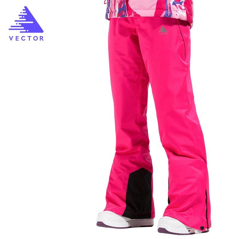 VECTOR femmes Ski pantalon imperméable neige pantalon plein air Sports d'hiver chaud Snowboard pantalon femme hiver Ski pantalon HXF70016 - 2
