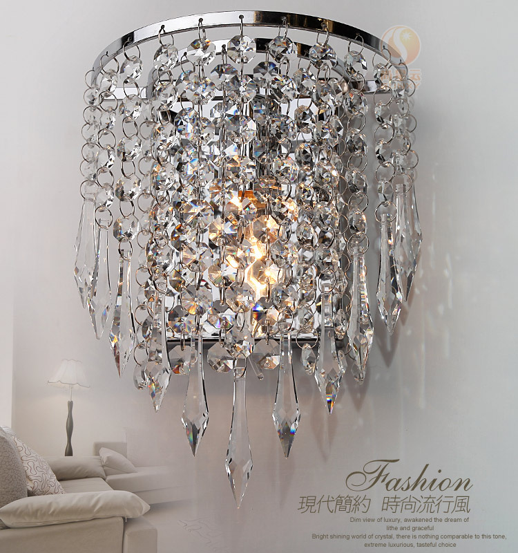 ФОТО 2016 New Modern Contemporary K9 Crystal Wall Light LED Wall Mounted Lamp Luxury Home Decoration Bedside