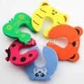 10 pçs/lote Bebê Borda Canto Guarda Dos Desenhos Animados Animal Jammers Parar Porta Stopper Titular Bloqueio de Segurança Protetor de Dedo Para O Miúdo