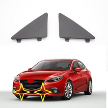 1 Pair BHN1-50-101/02 Triangle Trim Covers Front Lower Bumper Caps for MAZDA 3 AXELA 2014-2017