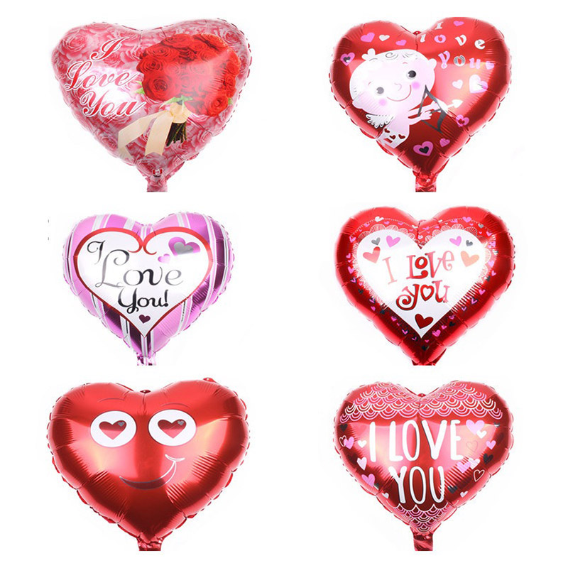 1/3/5pcs 18inch Heart Love Balloons 15 Styles Inflatable Foil Balloon For Wedding Valentines Day Decorations I Love You Globos 7