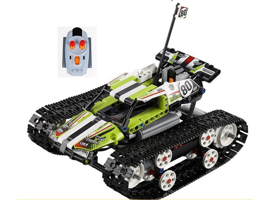 20033 397pcs Technic Series Remote control caterpillar vehicles Building Blocks Bricks Educational Toys with 42065 advanced intelligent vehicles control