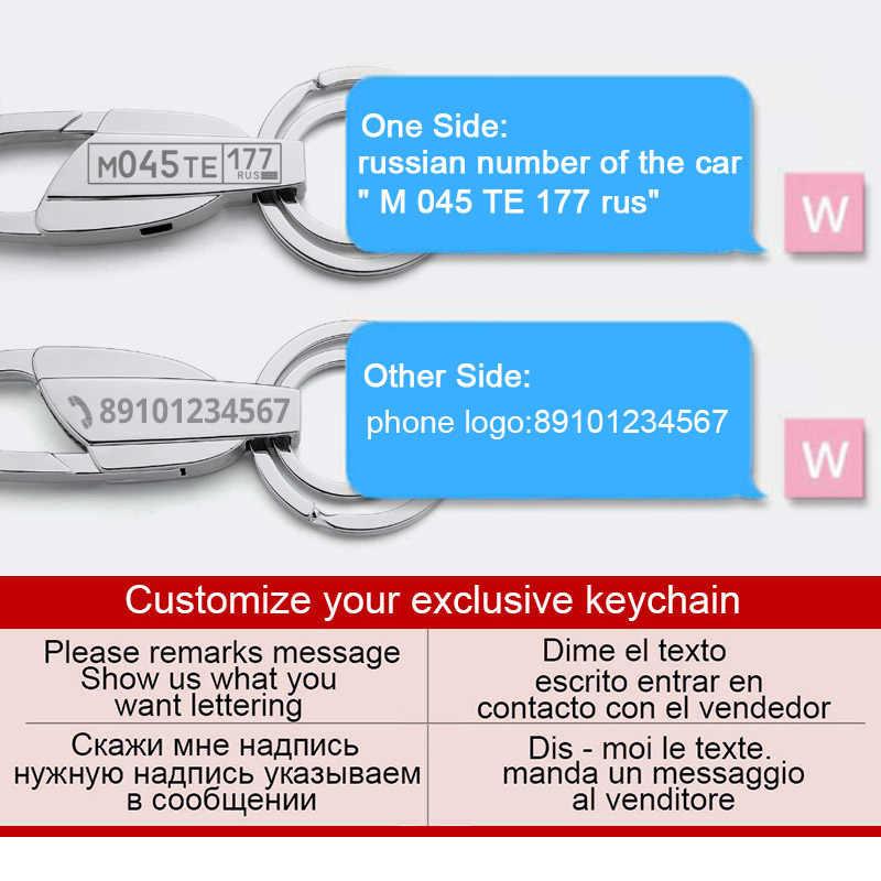 Personalizado llavero para coche número de placa logotipo Anti-perdido llavero grabado de nombre clave cadena anillo personalizado regalo para hombres k372C