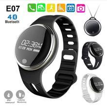 E07 смарт-браслет IP67 Водонепроницаемый спортивный браслет Bluetooth вызова/SMS напоминание Фитнес трекер для Android и IOS