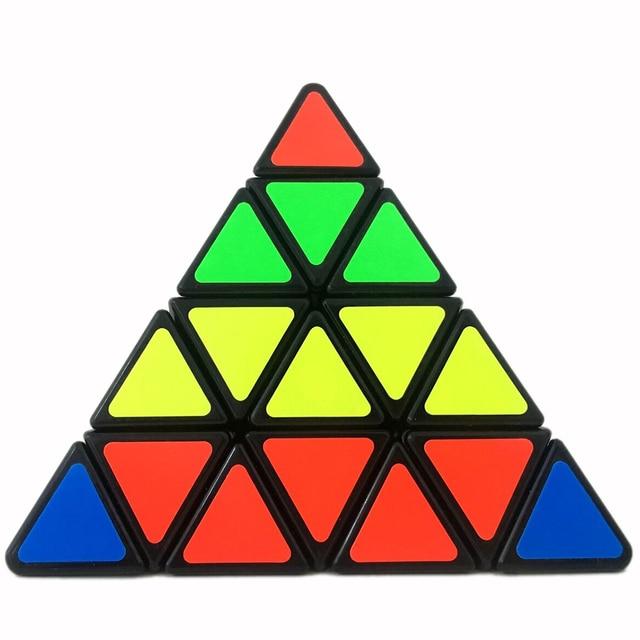 ShengShou SS Pyraminx Nuevo Estilo Grande de Cuatro Capas Cubo de la Velocidad puzzle Juguetes Educativos para niños Negro 11 cm cubo mágico