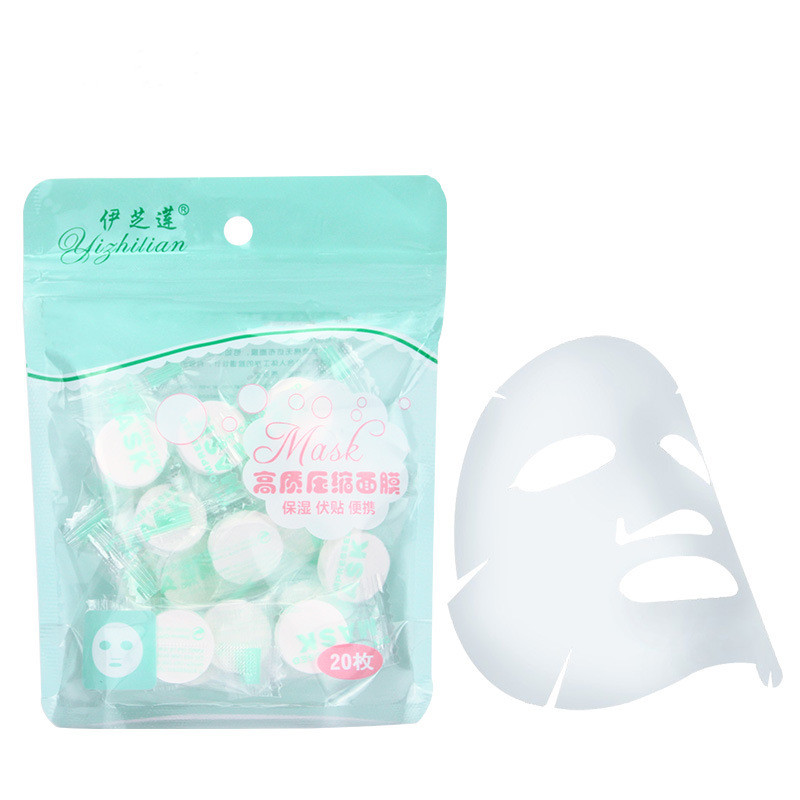 20 tablets Disposable Cotton Facial Masks Papers For Skin Care