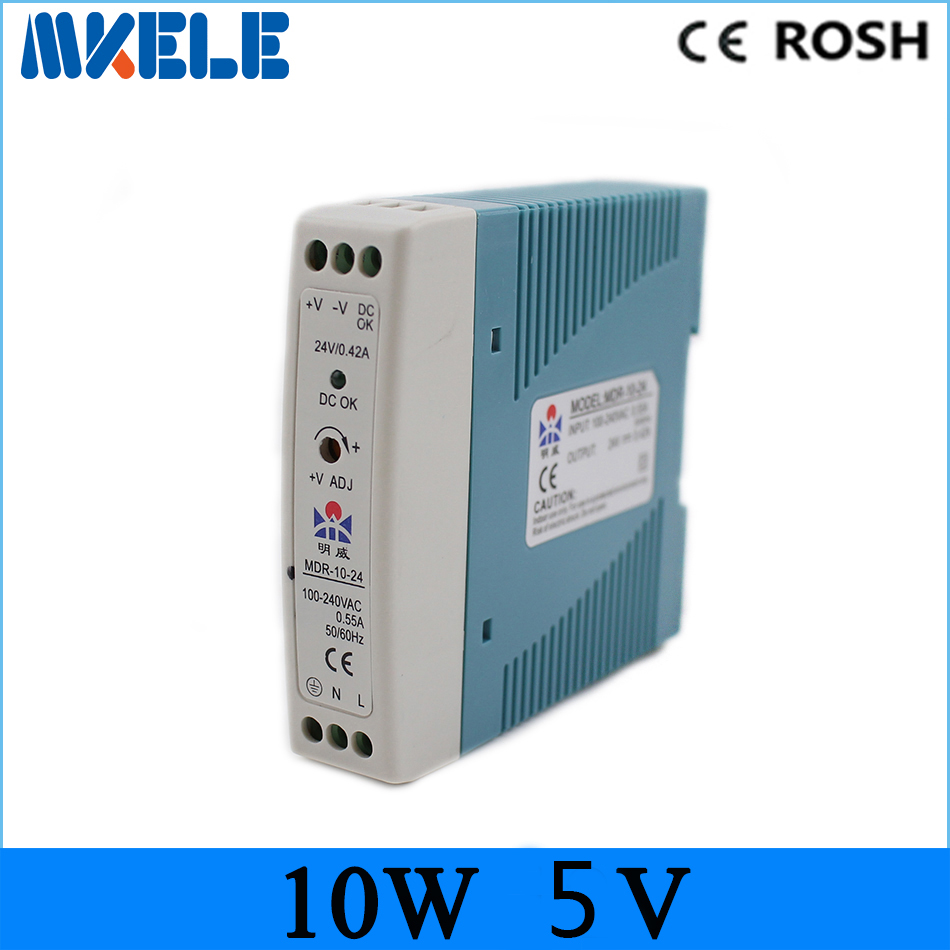 все цены на new model!MDR-10-5 Din Rail Type switching power supply single output Mini Size 10w 2a 5v Power Supply with CE онлайн