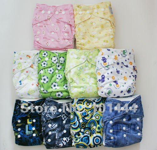 10pcs Soft Bamboo Baby Cloth Diapers Baby Nappy 10pcs Washable Cloth