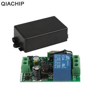 Image 1 - QIACHIP AC 250 V 110 V 220 V 1CH 433 Mhz Universelle Télécommande Sans Fil Commutateur Relais Module Récepteur Pour porte de Garage Porte Moteur
