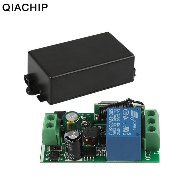 QIACHIP AC 250 V 110 V 220 V 1CH 433 Mhz Universelle Télécommande Sans Fil Commutateur Relais Module Récepteur Pour porte de Garage Porte Moteur
