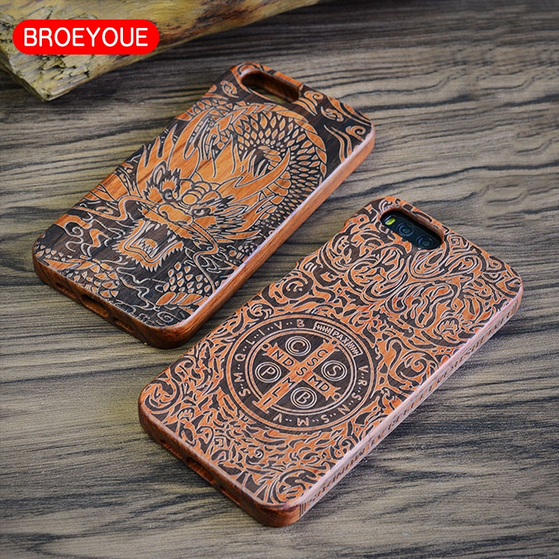 BROEYOUE Wood Case For <font><b>Xiaomi</b></font> Mi6 <font><b>Mi</b></font> 6 Case Bamboo Mobile Phone Cases Fundas Back Cover Coque SmartPhone Cases Shell Bags Capa