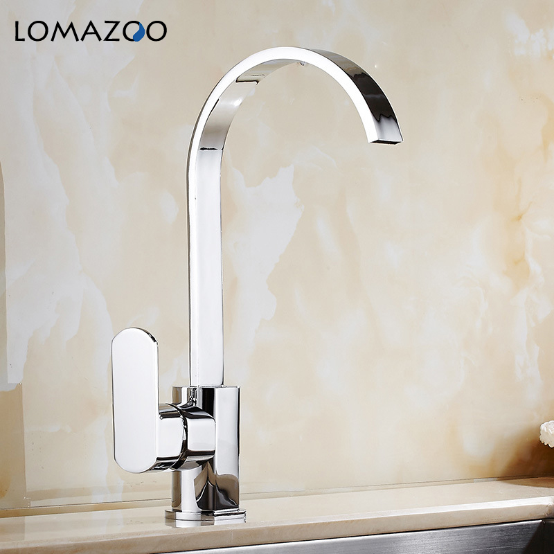 LOMAZOO Kitchen Faucet Bathroom Sink Faucet  Waterfall Faucet Single Handle Brass Rotate mixer dual sink rotation kitchen waterLOMAZOO Kitchen Faucet Bathroom Sink Faucet  Waterfall Faucet Single Handle Brass Rotate mixer dual sink rotation kitchen water