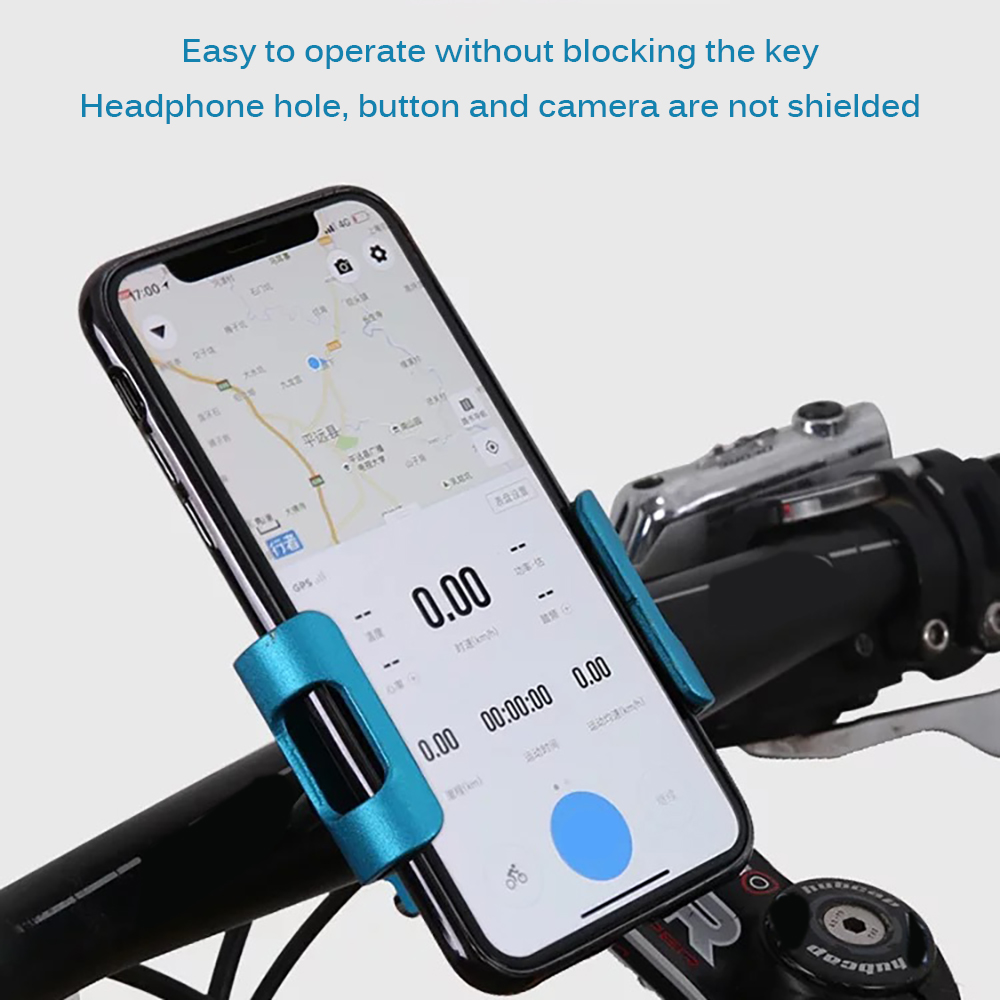 "Phone Holder 2.55-3.54"" Cell Phone GPS Mount Holder Bicycle Phone 360 Degree Rotary Support Cycling Bracket Mount Adjustable(China)"
