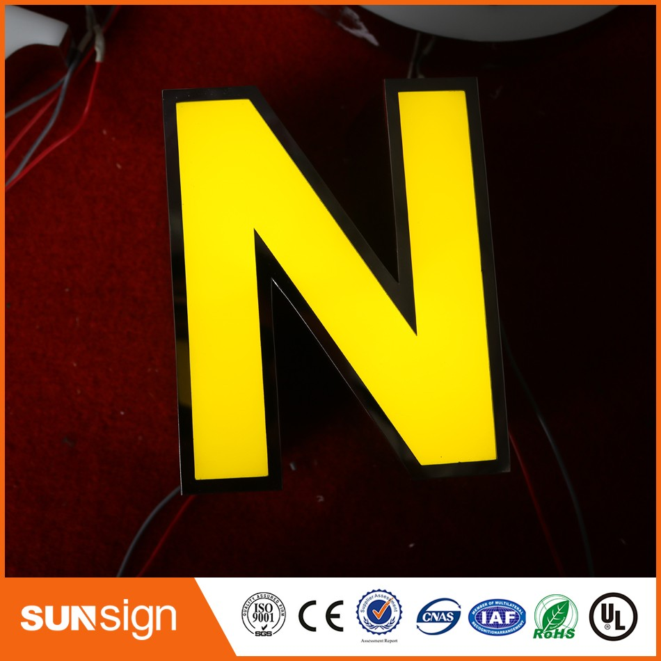 Custom Shop Signs Type Mirror Stainless Steel Led Light Letters