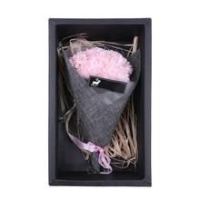 Creative 7pcs Handmade Scented Immortal Bouquet Artificial Soap Flower Gift Box for Romantic Valentine Gift christmas gift