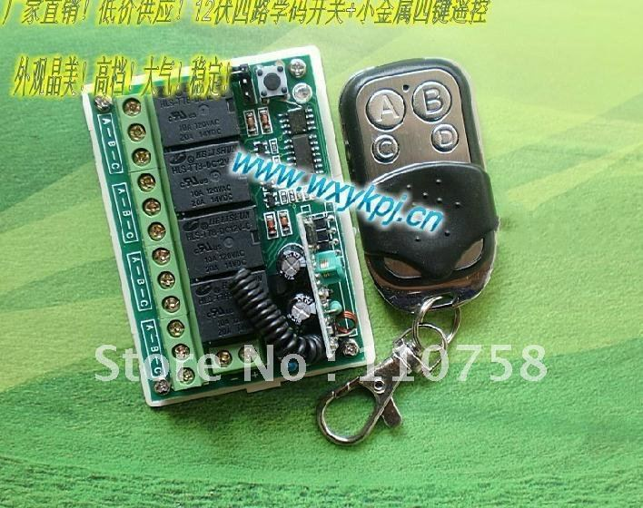 NEW ! Free Shipping Learning Code 315MHz DC 12V 10A 4CH Wireless Remote Control Switch System factory Sell Directly free shipping new factory original remote control rc003pm for marantz cd av amplifier