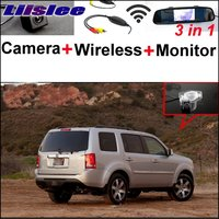 Liislee For HONDA Pilot MRV MR V MR V 3 in1 Special Rear View Camera + Wireless Receiver + Mirror Monitor Back Parking System
