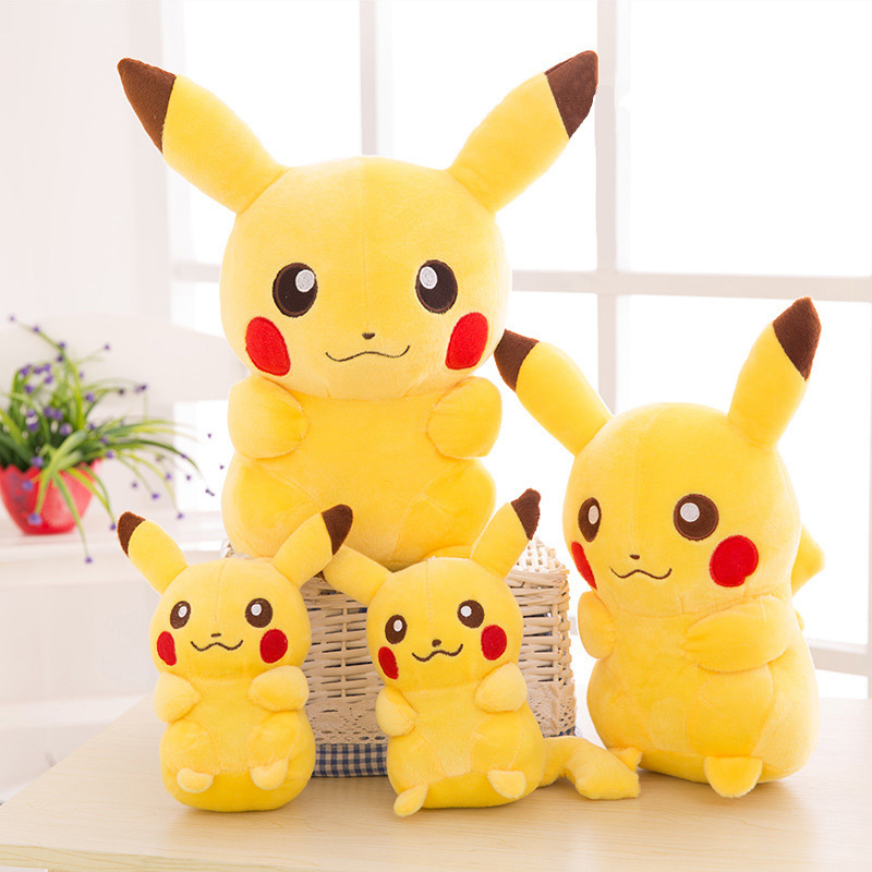Smile Pikachu Animal Dolls, 20/35/45CM Cute Plush Toys,Children Soft PP Cotton Kids As Birthday Christmas Gift 25cm plush kangaroo toys with soft pp cotton creative stuffed animal dolls cute kangaroos with small baby toys gift for children