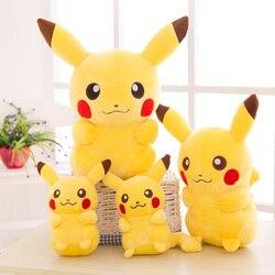 Sourire Pikachu Animaux Poupées, 20/35/45 CM Mignon En Peluche Jouets, Enfants Doux PP Coton Enfants Comme Cadeau De Noël Anniversaire