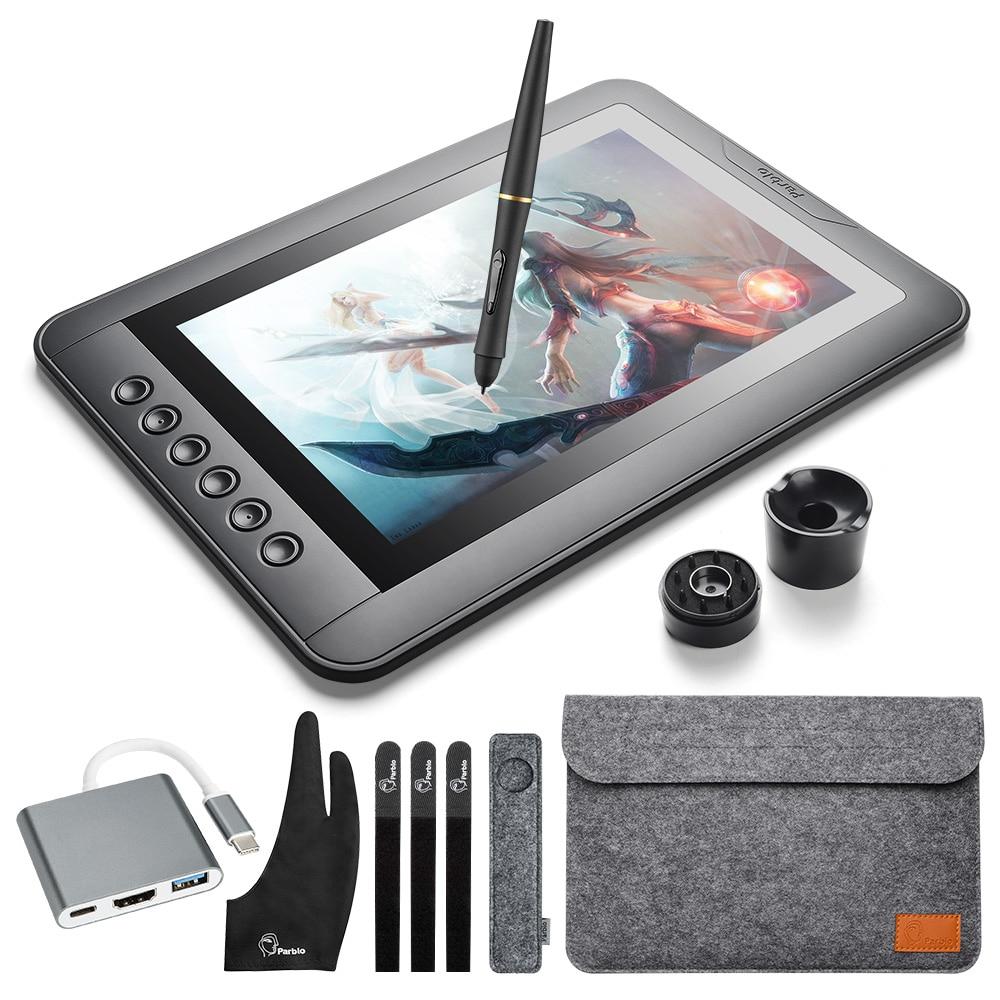 Parblo Mast10 10 IPS Graphique Dessin Moniteur Tablet Pen Display avec Shotcut touches Soutien Mac et Windows Système
