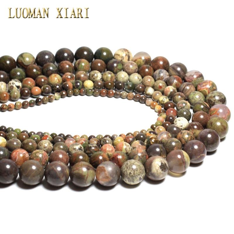 5e3ee411dacc ... AAA + calidad Natural mar piedra ronda perlas sueltas para la joyería  que hace Agat 4 6 8  10 12mm DIY pulsera collar Strand 15  US  2